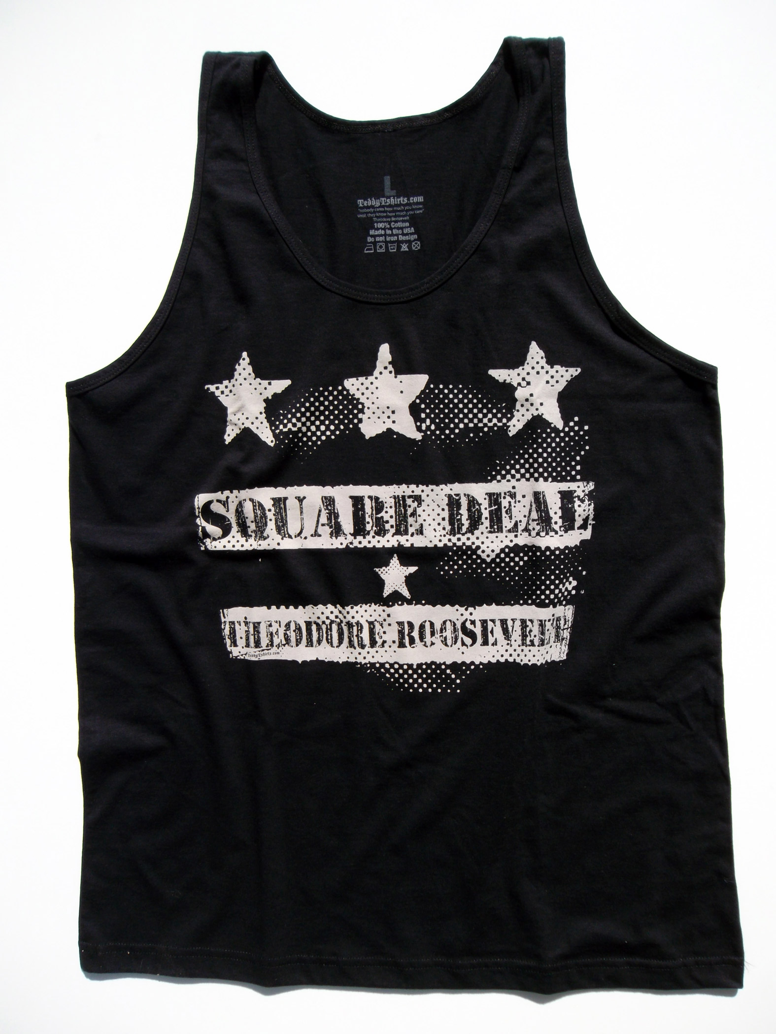 Square-Deal-Unisex-Black-Tank by TeddyTshirts.com